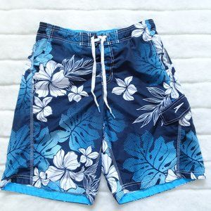🌵Men's Speedo Swim Trunks Size Medium Blue/white